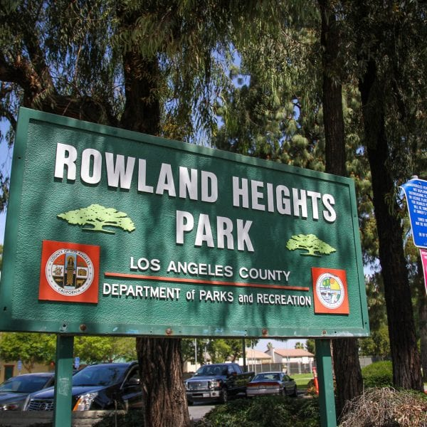 Rowland Heights Park sign