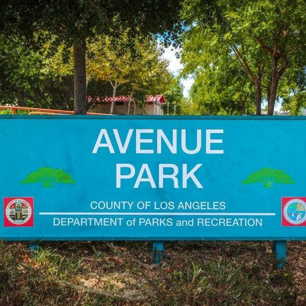 Avenue Park sign