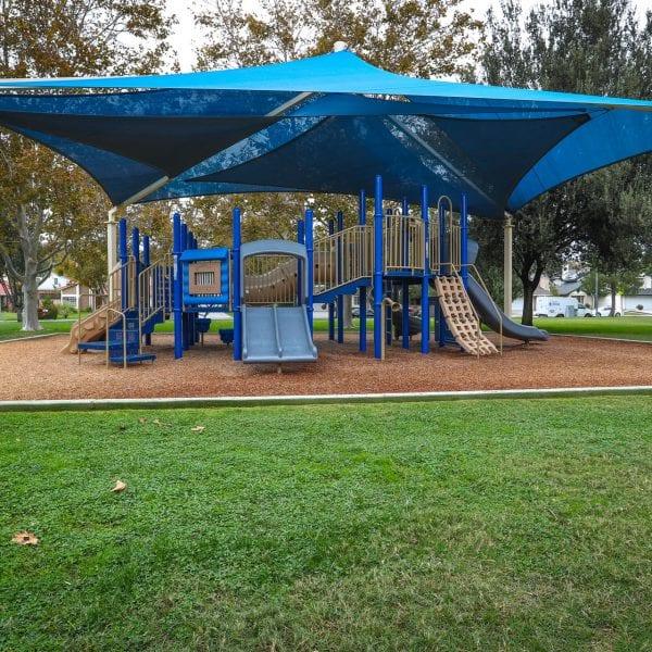Playground under a tent
