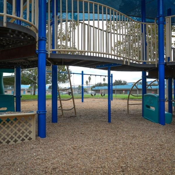 Bridge on a playground