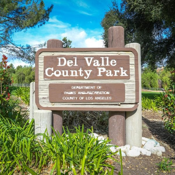Del Valle County Park Sign