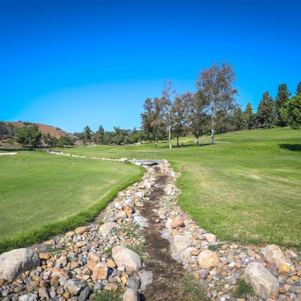Picture of a creek at Mountain Meadows Golf Course