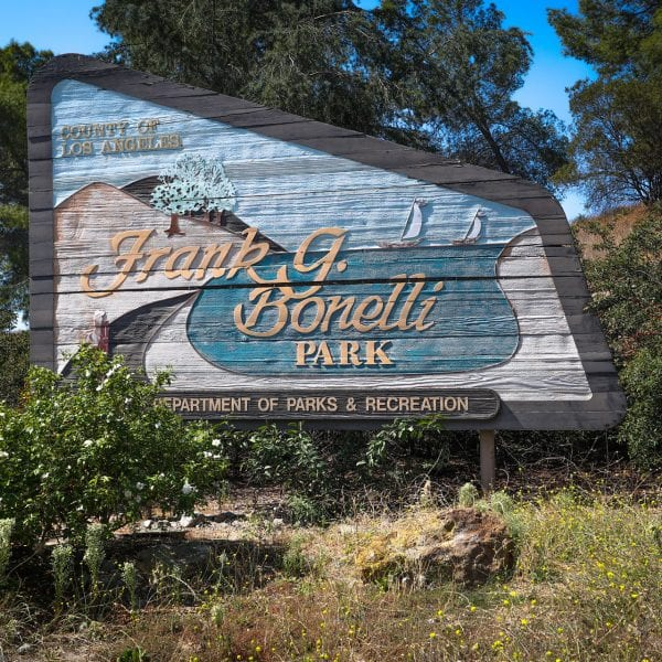 A Picture of the Frank G. Bonelli Regional Park Sign
