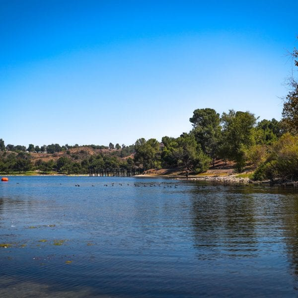 A picture of the Frank G. Bonelli Regional Park water