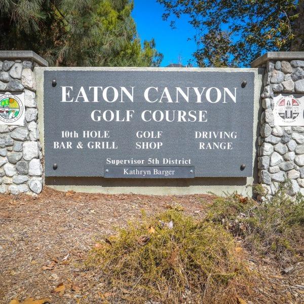 Eaton Canyon Golf Course plaque