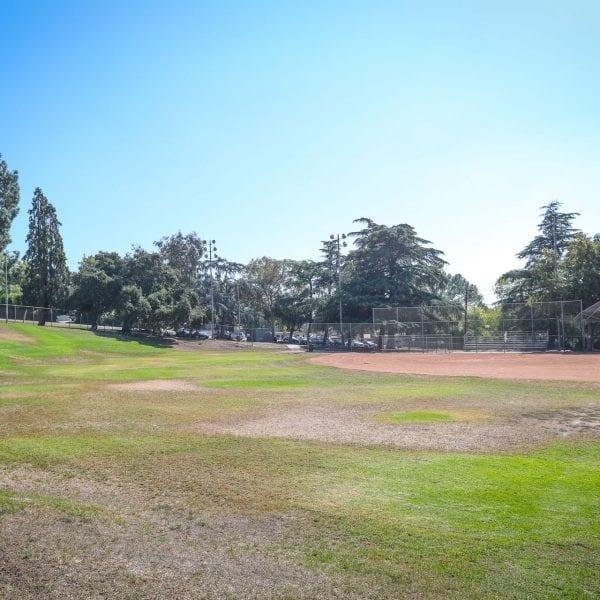 Baseball field and net