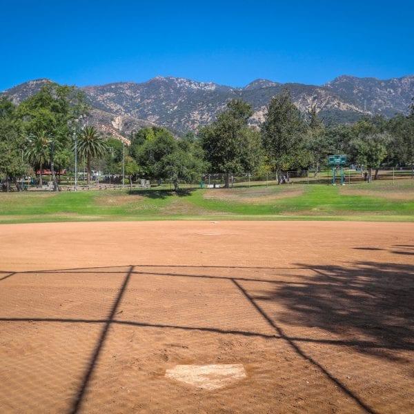 Baseball diamond and field