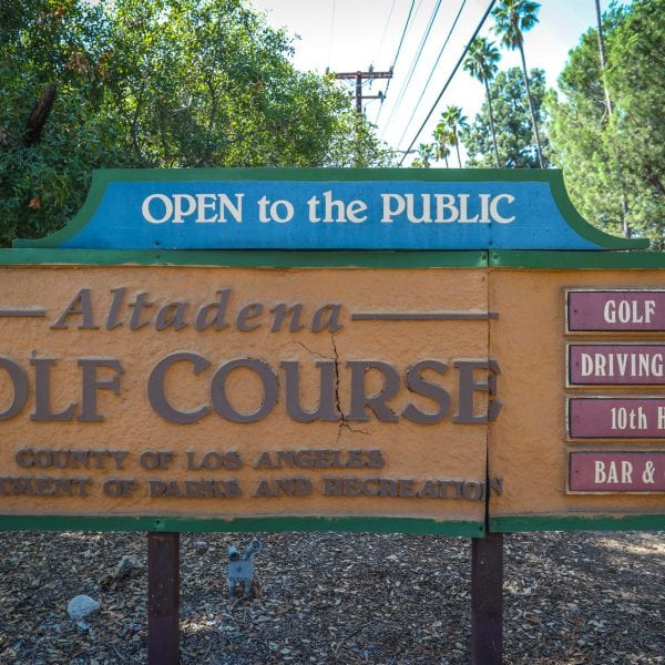 Altadena Golf Course Sign