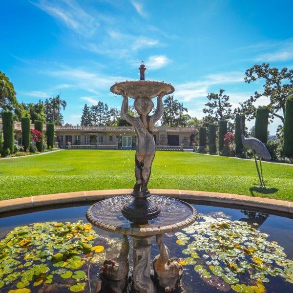 Fountain At Virginia Robinson Gardens