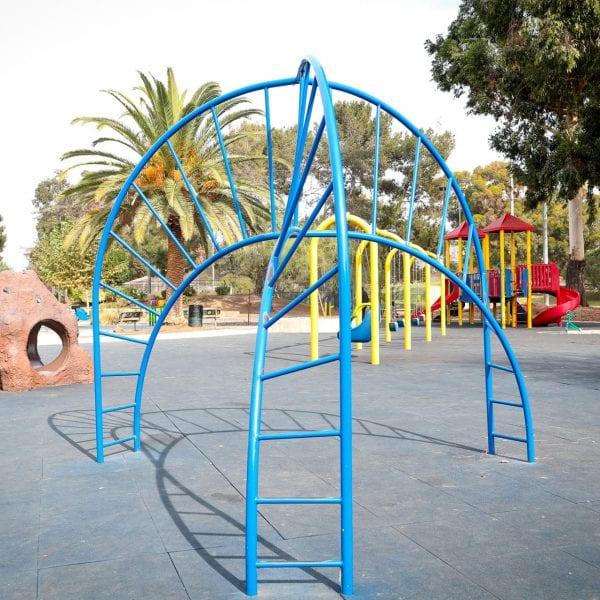 Monkey bars at the playground