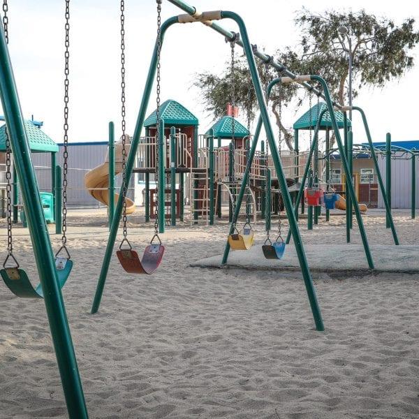 Swing set and playground