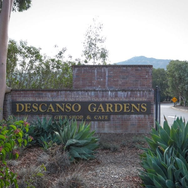 Descanso Gardens sign