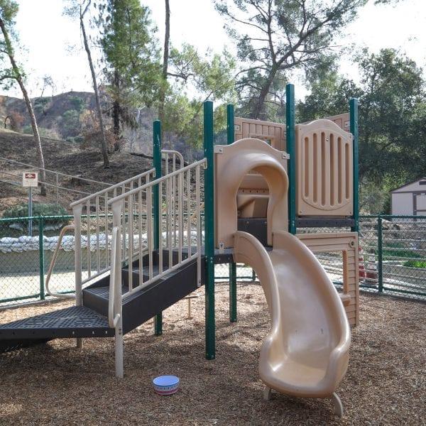 Slide on playground