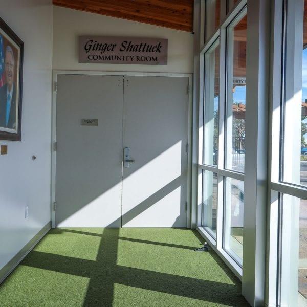 Hallway in the golf shop