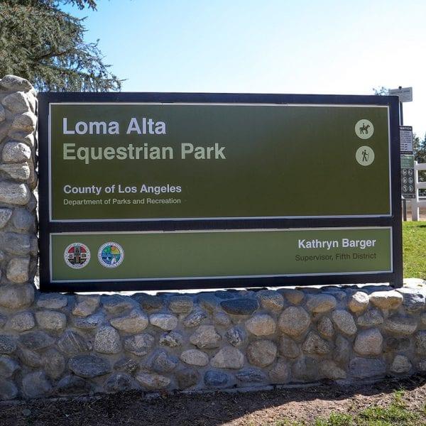 Loma Alta Equestrian Center Sign