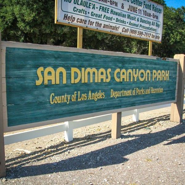 San Dimas Canyon Park sign