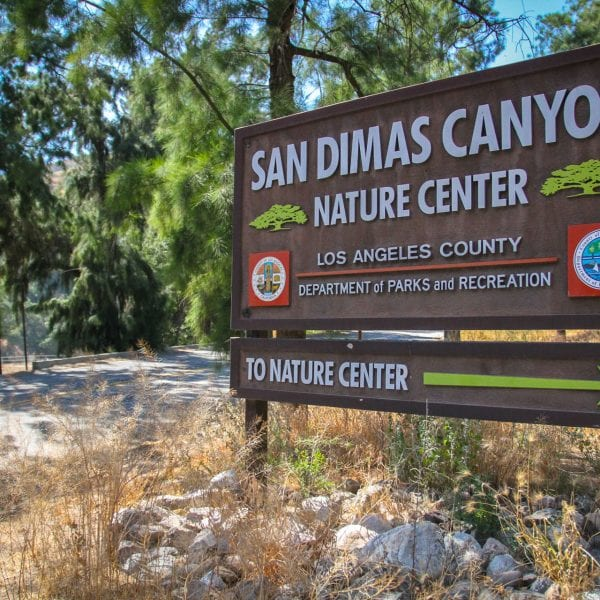 San Dimas Canyon Natural Center sign