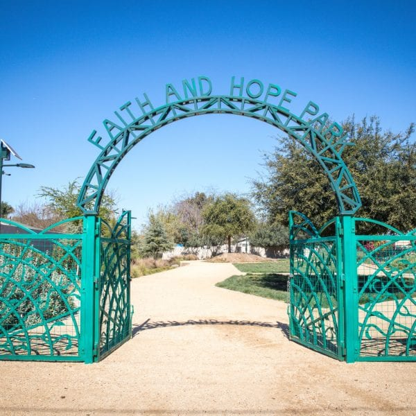 Faith and Hope Park gateway