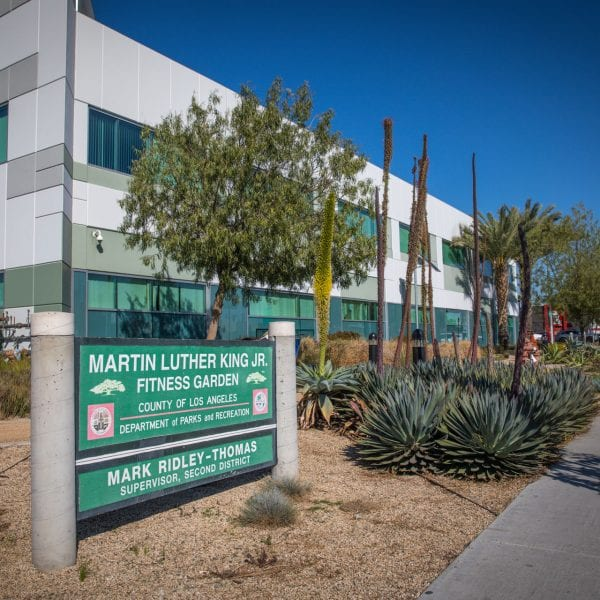 Martin Luther Fitness Garden sign