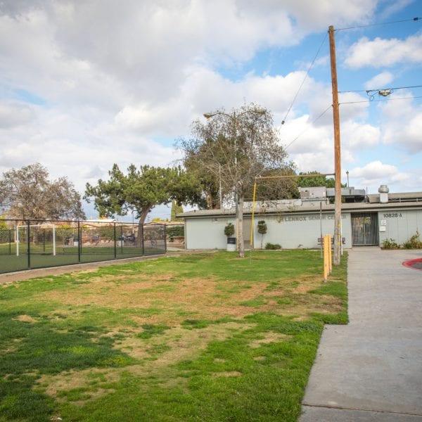 Lawn next to the Lennox Senior Center