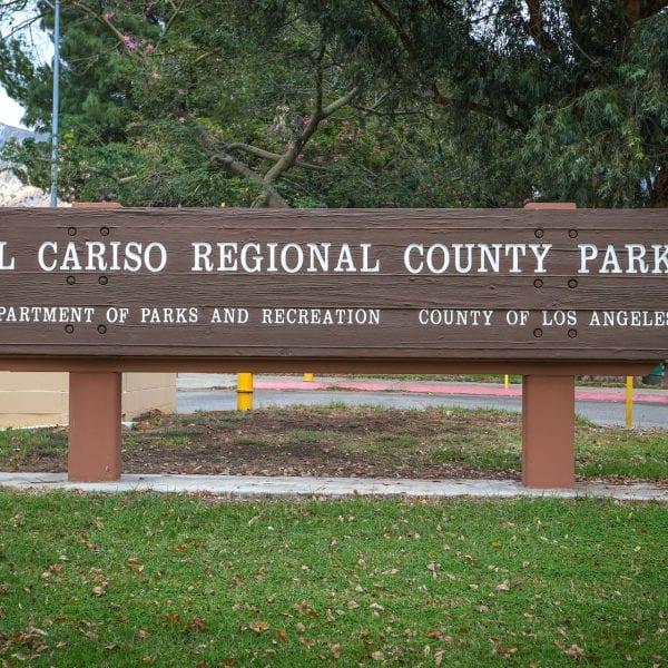 El Cariso Regional County Park sign