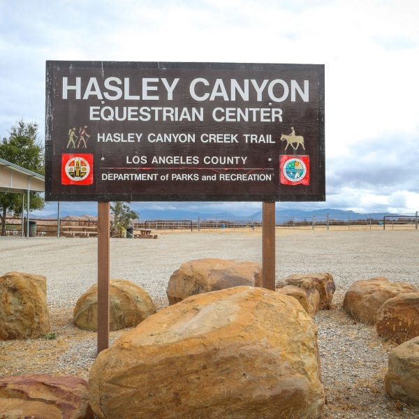 Hasley Canyon Equestrian Center sign