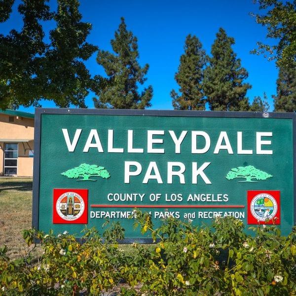 Valleydale Park sign