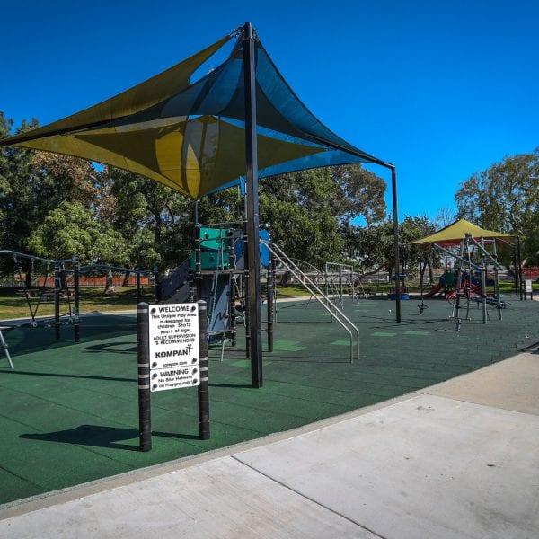 Tent covered playground