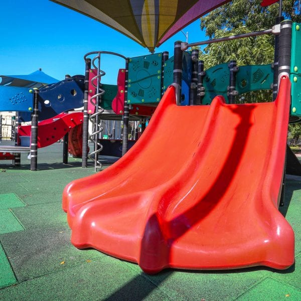 Red double-slide