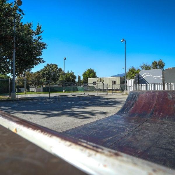 Skatepark halfpipe