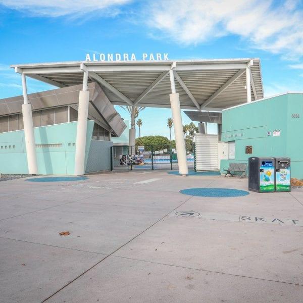 Alondra Park pool facility entrance