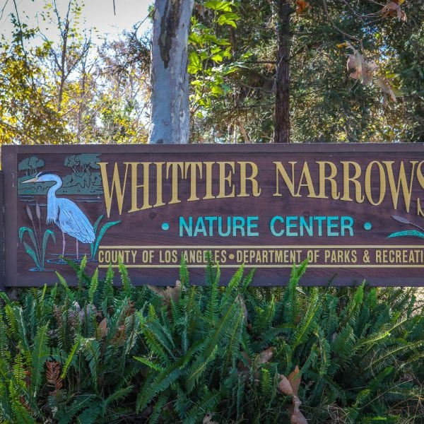 Whittier Narrows Nature Center main sign