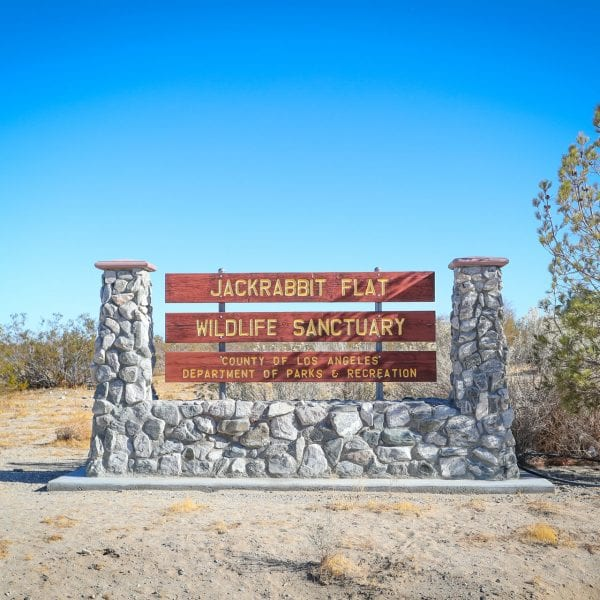Jackrabbit Flats Wildlife Sanctuary sign