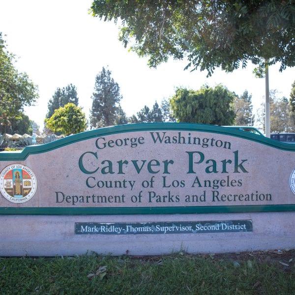 George Washington Carver Park sign