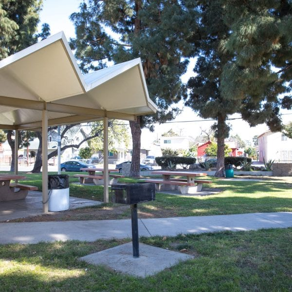 BBQ and picnic tables