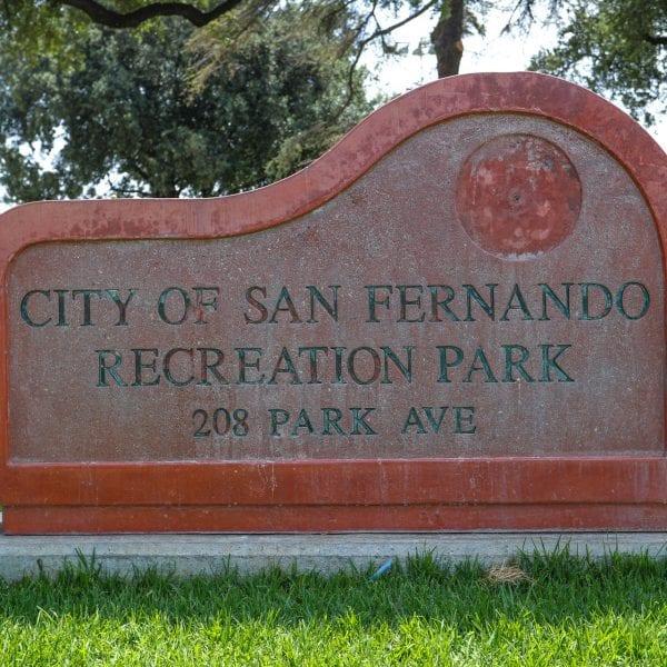 San Fernando Park sign