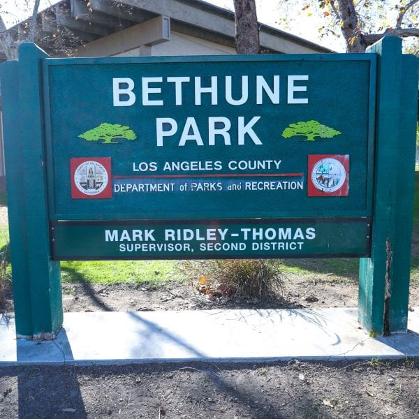 Bethune Park sign