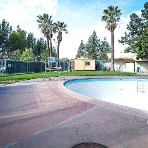 Pool edge and facility