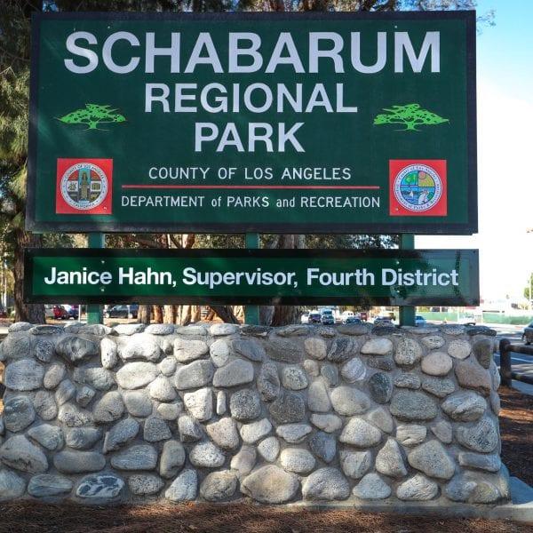 Schabarum Regiona Park sign