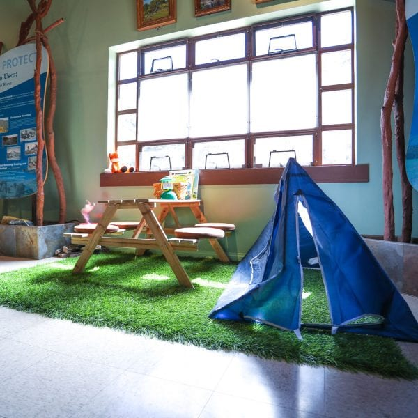 Kids play area in the nature center