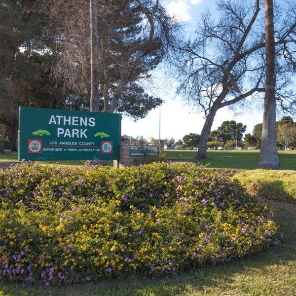 Athens Park sign