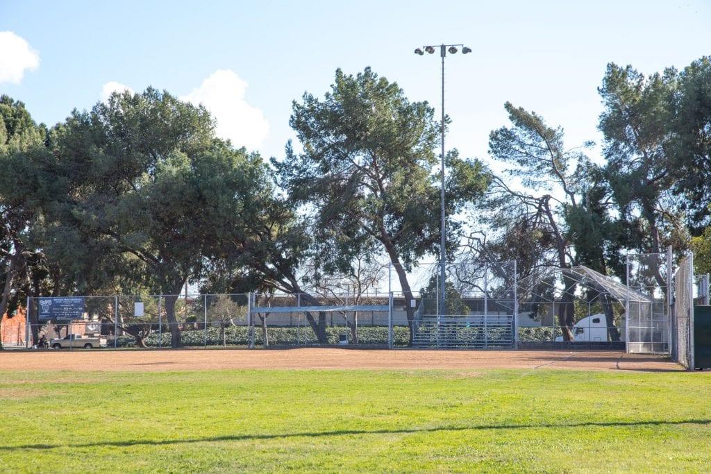 Athens Park baseball dugout