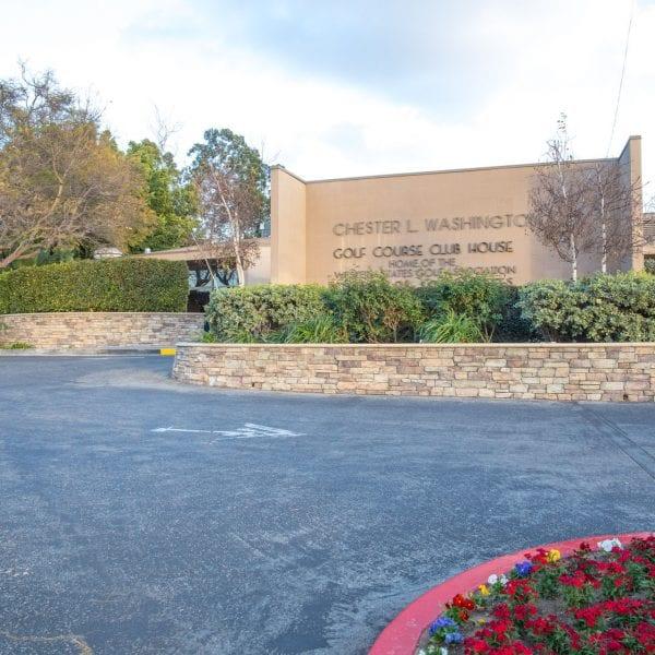 Chester Washington Golf Course front entrance