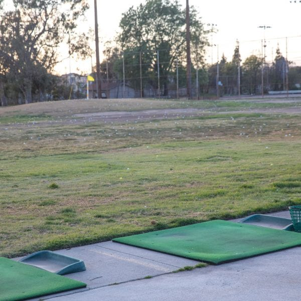 Chester Washington Golf Course driving range close up