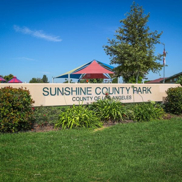 Sunshine County Park sign