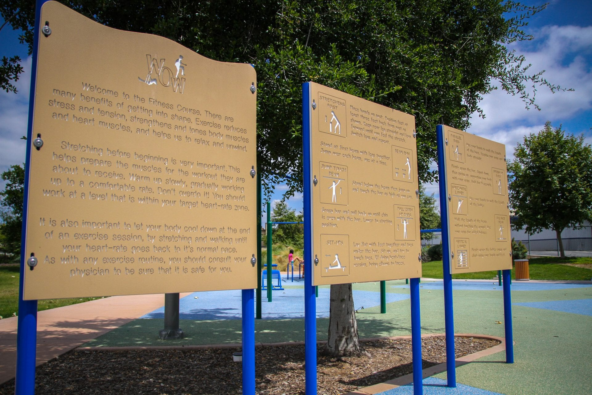 Instructional exercise signs
