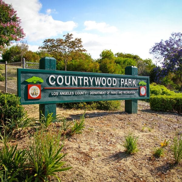 Countrywood Park sign