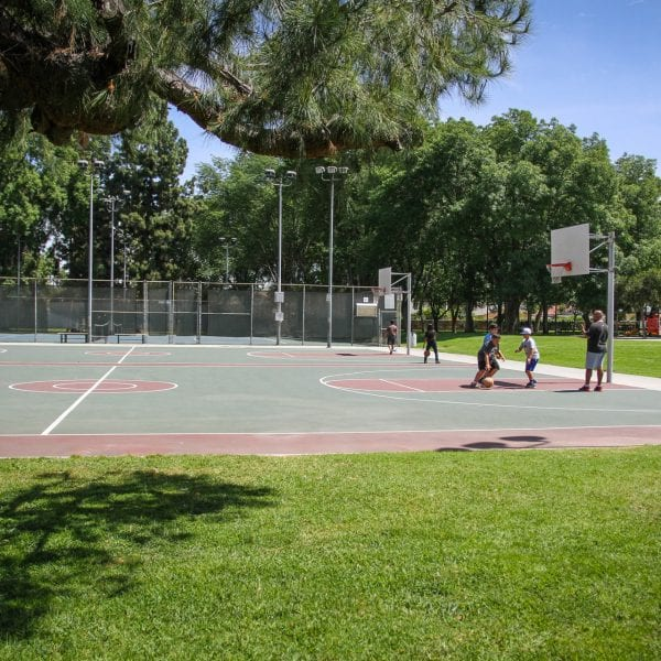 A Picture of Rowland Heights Basketball Court