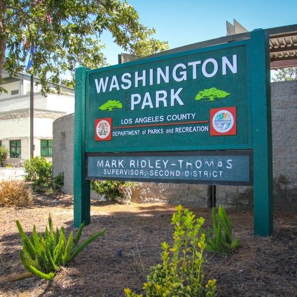 Washington Park sign