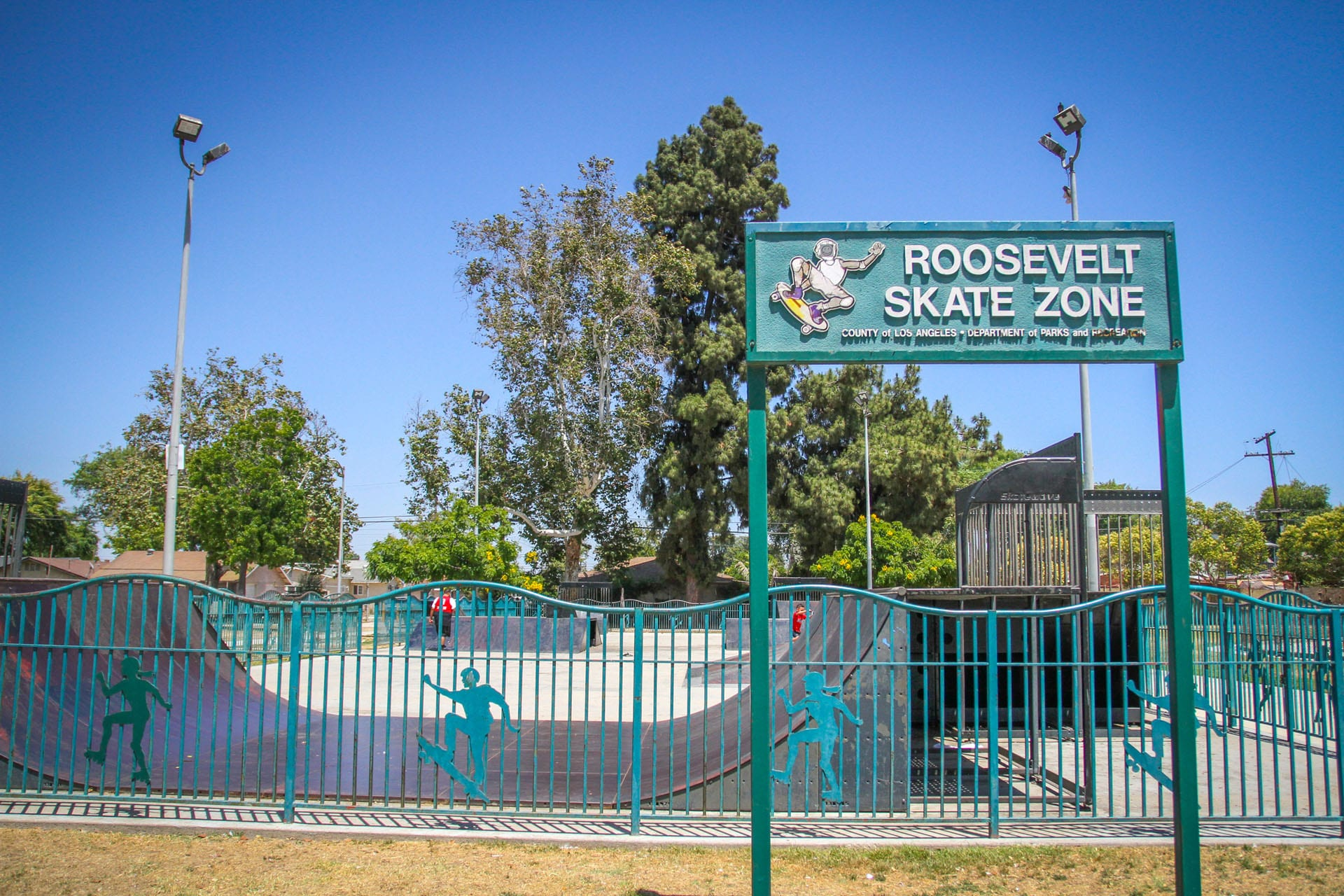 Roosevelt Skate Zone sign
